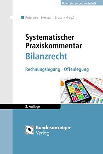9783846205204: Systematischer Praxiskommentar Bilanzrecht: Rechnungslegung - Offenlegung