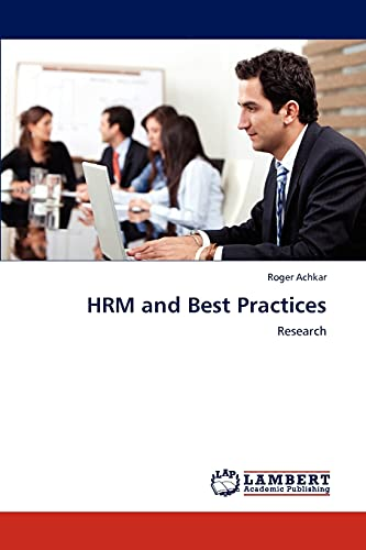 9783846515525: HRM and Best Practices: Research