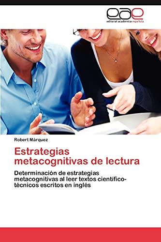 Estrategias Metacognitivas de Lectura: Robert Marquez
