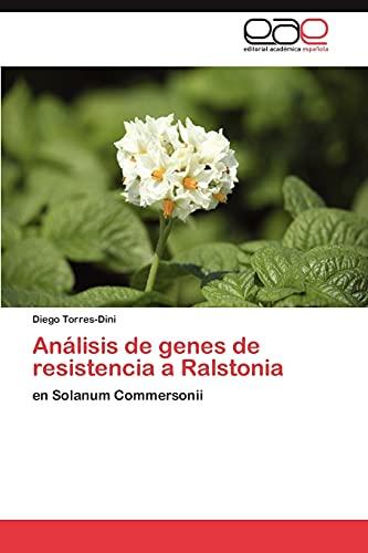 9783846574508: Análisis de genes de resistencia a Ralstonia