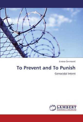 9783846581759: To Prevent and To Punish: Genocidal Intent