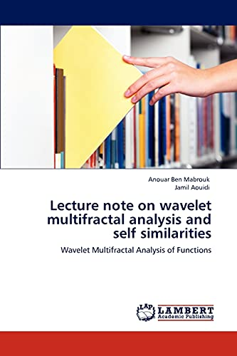 9783846596463: Lecture note on wavelet multifractal analysis and self similarities: Wavelet Multifractal Analysis of Functions