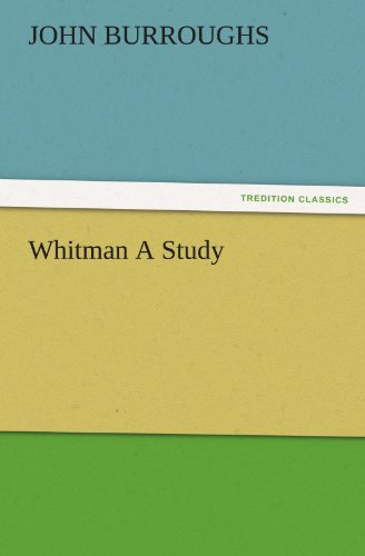 9783847224181: Whitman A Study (TREDITION CLASSICS)