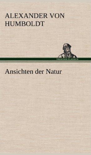 9783847252726: Ansichten Der Natur (German Edition)