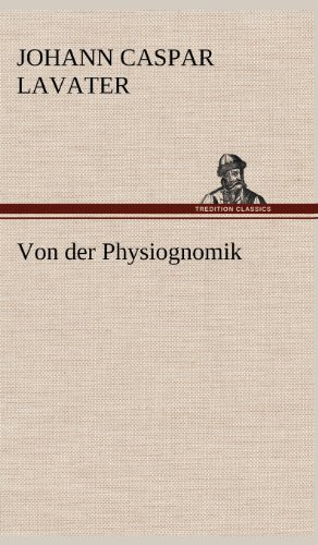 9783847255178: Von der Physiognomik