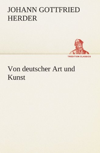 9783847295846: Von deutscher Art und Kunst (TREDITION CLASSICS) (German Edition)