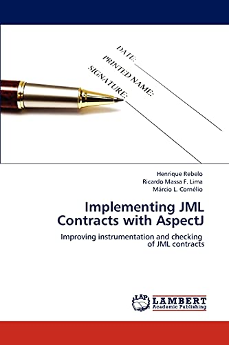 9783847337539: Implementing Jml Contracts with Aspectj