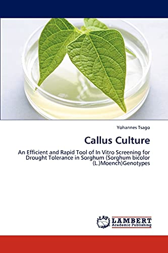9783847344346: Callus Culture: An Efficient and Rapid Tool of In Vitro Screening for Drought Tolerance in Sorghum (Sorghum bicolor (L.)Moench)Genotypes