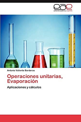 9783847352044: Operaciones unitarias, Evaporación
