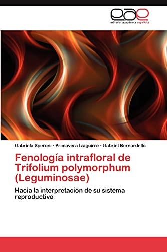 9783847355342: Fenología intrafloral de Trifolium polymorphum (Leguminosae): Hacia la interpretación de su sistema reproductivo (Spanish Edition)