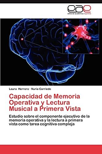 9783847357407: Memoria Operativa y Lectura Musical a Primera Vista