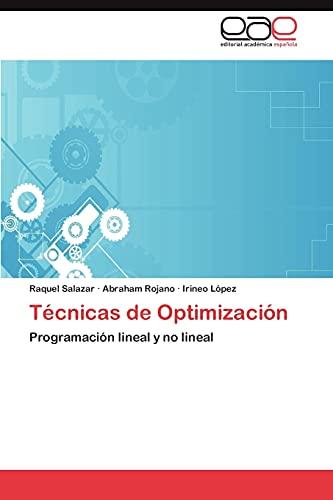 9783847367338: Técnicas de Optimización: Programación lineal y no lineal (Spanish Edition)