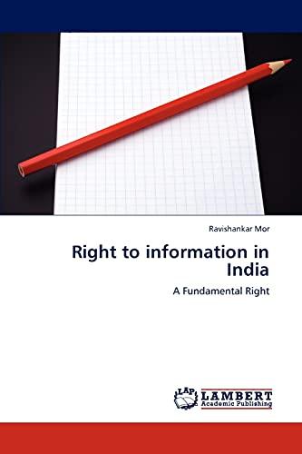 Right to information in India: Ravishankar Mor