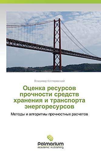 9783847399674: Otsenka Resursov Prochnosti Sredstv Khraneniya I Transporta Energoresursov