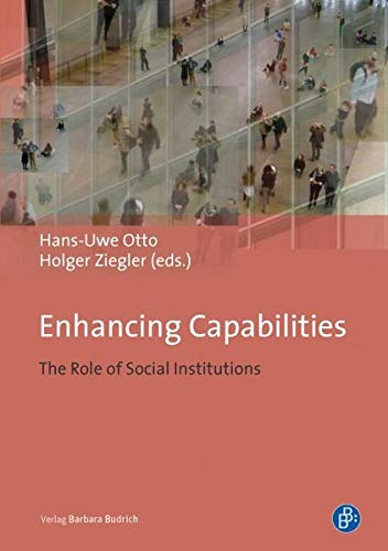 9783847400776: Enhancing Capabilities: The Role of Social Institutions
