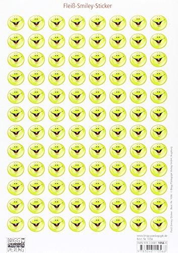 Würfel, Sticker, Stempel - Sticker und Karten: Fleiß-Smiley-Sticker: Stickerbogen mit 96...