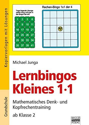 9783848110384: Lernbingos Kleines 1 x 1: Mathematisches Denk- und Kopfrechentraining ab Klasse 2