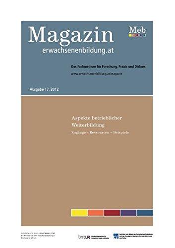9783848231263: Aspekte betrieblicher Weiterbildung - Magazin erwachsenenbildung.at, 17/2012