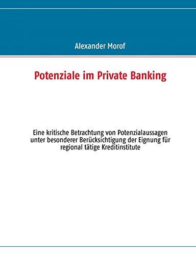 9783848253067: Potenziale im Private Banking