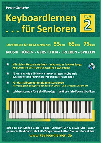 Keyboardlernen Fur Senioren (Stufe 2): Peter Grosche