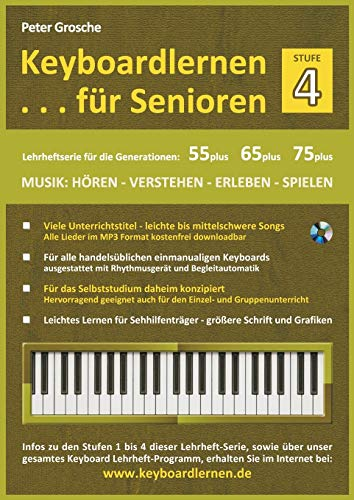 Keyboardlernen Fur Senioren (Stufe - 4): Peter Grosche