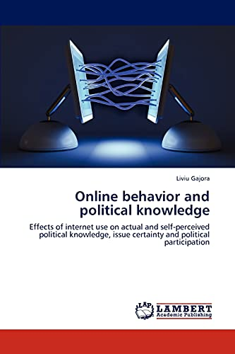 Online behavior and political knowledge 9783848401628 Current research on political knowledge focuses to a large extent on differences between Internet users and non-users. As Internet use is shown to constantly increase, more complex questions arise related to the impact of Internet on citizens' political involvement. This thesis takes a deeper look at how differences in online content (facts vs. facts and analysis) and interaction levels (passive reading vs. reading and commenting) affects factual and self-perceived political knowledge, issue certainty and desire to engage in politics offline. The results of this study suggest that increased online interaction in the form of being able to post comments leads to lower levels of self-perceived knowledge, but also to lower levels of political participation intention. Offline political discussions and past political behavior are also significant indicators of political participation intention.