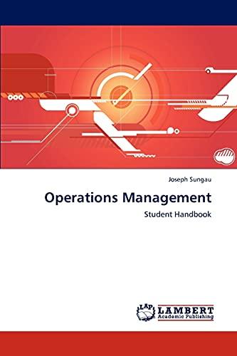 9783848411023: Operations Management: Student Handbook