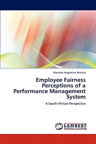 9783848441983: Employee Fairness Perceptions of a Performance Management System