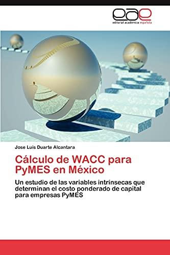 9783848462247: Cálculo de WACC para PyMES en México: Un estudio de las variables intrínsecas que determinan el costo ponderado de capital para empresas PyMES (Spanish Edition)