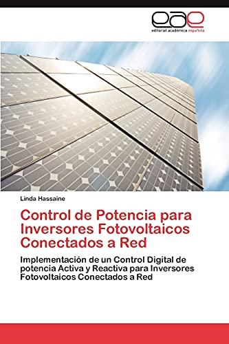 9783848464920: Control de Potencia Para Inversores Fotovoltaicos Conectados a Red