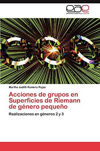 Acciones de grupos en Superficies de Riemann de g?nero peque?o: Realizaciones en g?neros 2 y 3