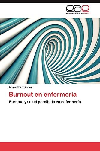 9783848475377: Burnout En Enfermeria