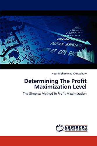 Determining The Profit Maximization Level: The Simplex: Nour Mohammed Chowdhury