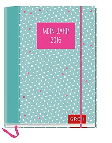 9783848513093: Mein Jahr 2016: Terminplaner mit Einstecktasche, Leseband, Gummibandverschluss, 12 Postkarten und 2-seitigem Wochenkalendarium