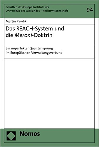 Das REACH-System und die Meroni-Doktrin: Martin Pawlik