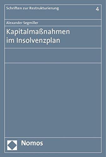 9783848704484: Kapitalmaßnahmen im Insolvenzplan