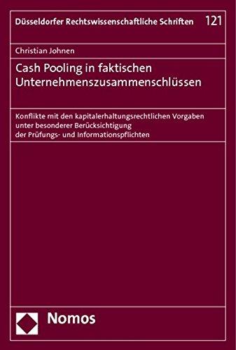 9783848705412: Cash Pooling in faktischen Unternehmenszusammenschlüssen