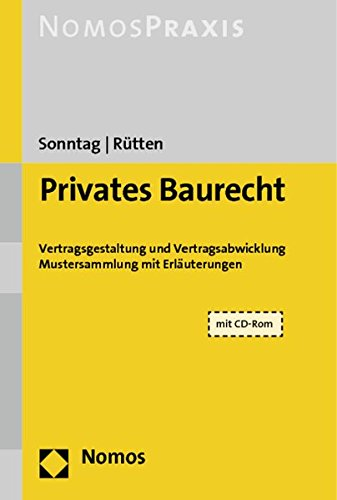 Privates Baurecht, m. CD-ROM: Gerolf Sonntag