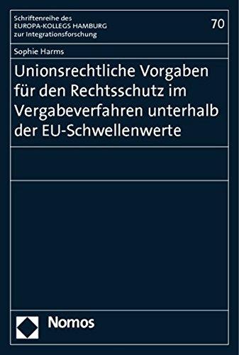 Unionsrechtliche Vorgaben für den Rechtsschutz im Vergabeverfahren unterhalb der ...