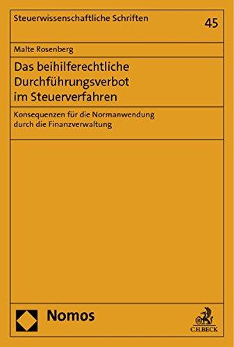 Das beihilferechtliche Durchführungsverbot im Steuerverfahren: Malte Rosenberg