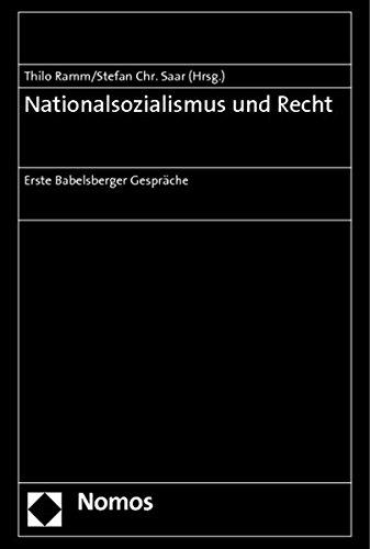 Nationalsozialismus und Recht: Thilo Ramm