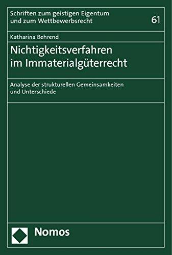 Nichtigkeitsverfahren im Immaterialgüterrecht: Katharina Behrend