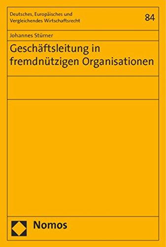 Geschäftsleitung in fremdnützigen Organisationen: Johannes St�rner