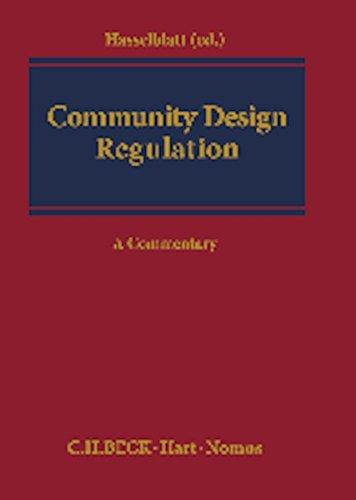 9783848712830: Community Design Regulation: A Commentary (Kooperationswerke Beck - Hart - Nomos)