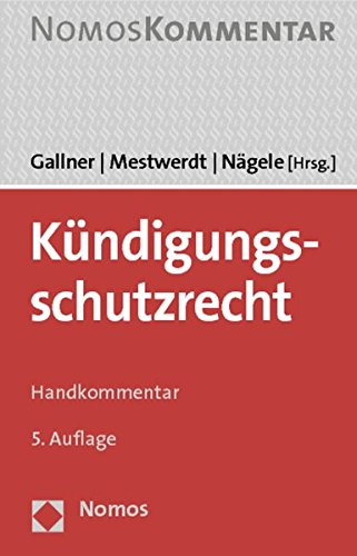 9783848713318: Kundigungsschutzrecht: Handkommentar (German Edition)