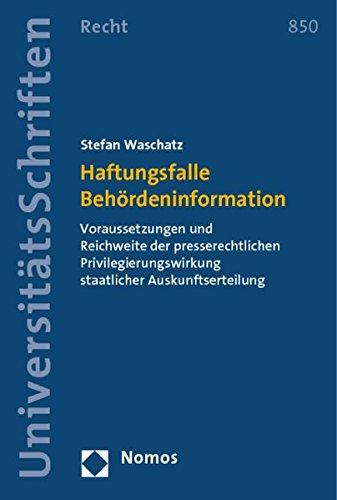 Haftungsfalle Behördeninformation: Stefan Waschatz