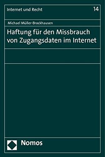 9783848715763: Haftung für den Missbrauch von Zugangsdaten im Internet