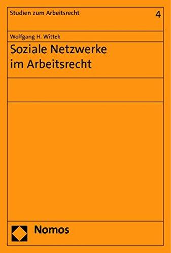 9783848716258: Soziale Netzwerke im Arbeitsrecht