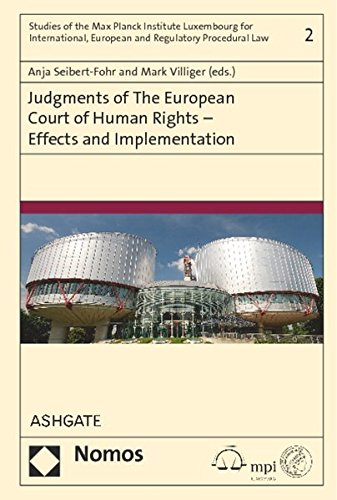 9783848718696: Judgments of the European Court of Human Rights - Effects and Implementation