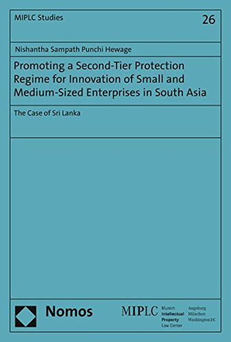 9783848718856: Promoting a Second-Tier Protection Regime for Innovation of Small and Medium-Sized Enterprises in South Asia: The Case of Sri Lanka (Munich Intellectual Property Law Center)